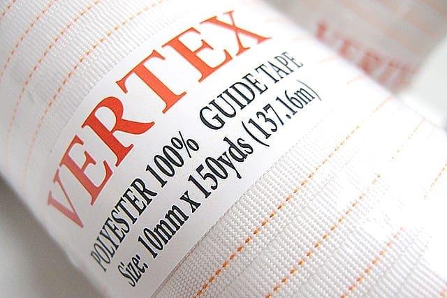 ริบบิ้นไกด์เทป VERTEX 10mm สำหรับ เครื่องรีดผ้าแบบกระทะ