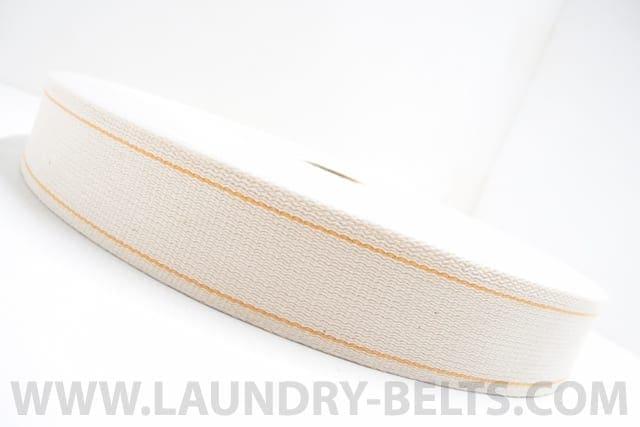 สายพานป้อนผ้า แบบผ้าคอตตอนริมสีส้ม NICHOLINE สำหรับเครื่องรีดผ้าอุตสาหกรรมแบบลูกกลิ้ง และ เครื่องรีดผ้าอุตสาหกรรมแบบกระทะ และ เครื่องพับผ้าปูที่นอน