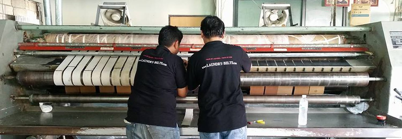สายพานป้อนผ้า NICHOLINE สำหรับเครื่องรีดผ้าอุตสาหกรรมแบบลูกกลิ้ง และ เครื่องรีดผ้าอุตสาหกรรมแบบกระทะ