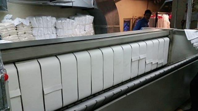 งานเย็บ สายพานรีดผ้า NICHOLINE แบบผ้าสักหลาด Pomex และผ้าปิดลวด สำหรับ เครื่องรีดผ้าแบบลูกกลิ้ง ELECTROLUX และ เครื่องรีดผ้าแบบลูกกลิ้ง ทุกรุ่น พร้อมรับประกัน 1 ปี