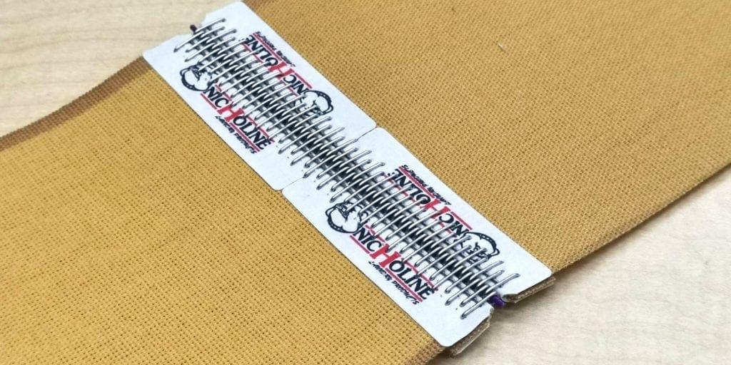 งานเย็บ สายพานรีดผ้า NICHOLINE แบบผ้าใบกระดาษทรายสีน้ำตาล Nomex-Chicago สำหรับ เครื่องรีดผ้าแบบลูกกลิ้ง ทุกรุ่น พร้อมรับประกัน 1 ปี