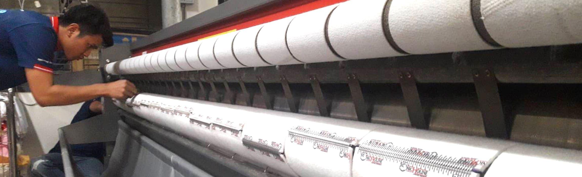 สายพานรีดผ้า NICHOLINE สำหรับ เครื่องรีดผ้าแบบลูกกลิ้ง ทุกรุ่น พร้อมรับประกัน 1 ปี