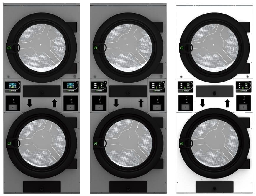 เครื่องอบผ้าหยอดเหรียญ 2 ชั้น DOMUS Clean&Go เครื่องซักผ้าอุตสาหกรรมแบบหยอดเหรียญ สำหรับ ร้านสะดวกซัก