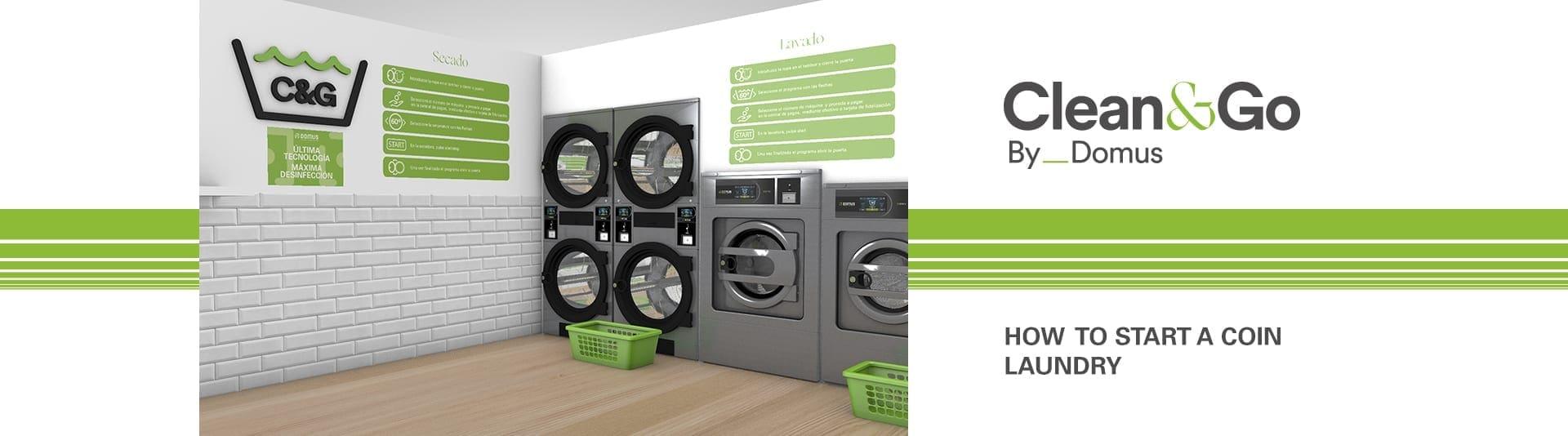 เครื่องซักอบผ้าหยอดเหรียญ DOMUS Clean&Go เครื่องซักอบผ้าอุตสาหกรรมแบบหยอดเหรียญ สำหรับ ร้านสะดวกซัก - heading
