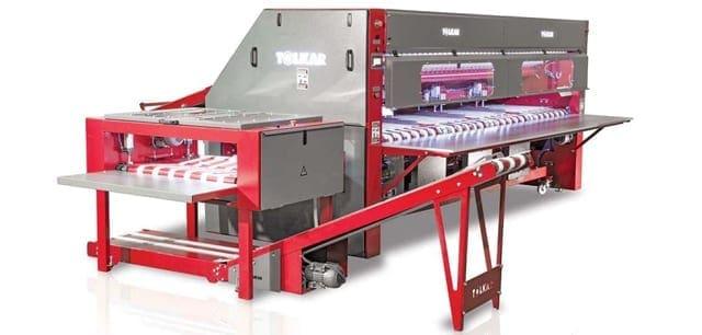 เครื่องพับผ้าปูที่นอนและดูเว่ TOLKAR VIRGO 3000-3500 Linen Folder เครื่องพับผ้าอุตสาหกรรม