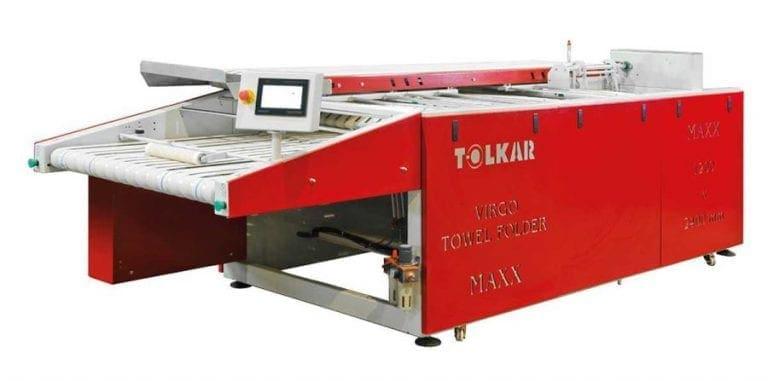 เครื่องพับผ้าเช็ดตัว TOLKAR VIRGO MAXX1 สำหรับโรงแรมและโรงซักรีด