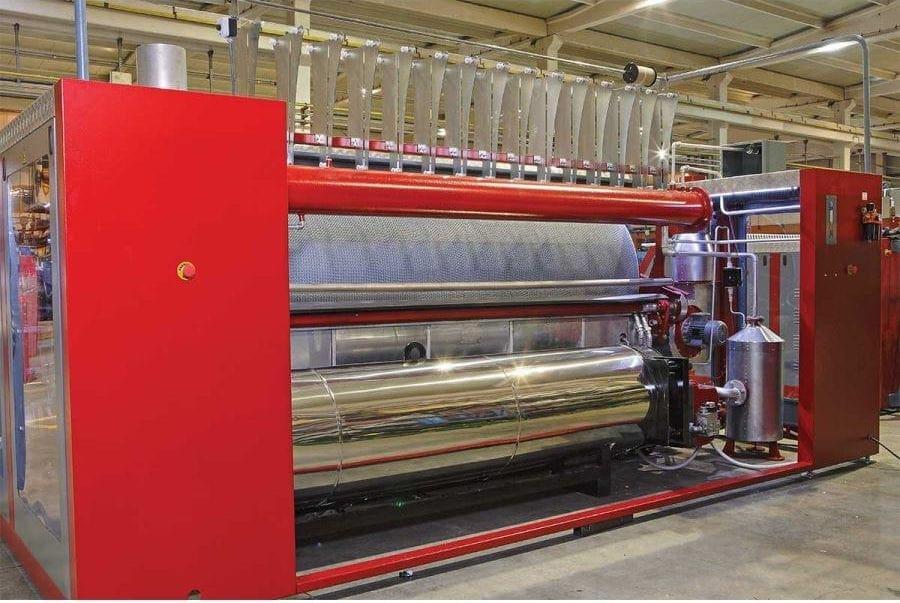 เครื่องรีดผ้าอุตสาหกรรม TOLKAR VELA CHI แบบกระทะ ระบบแก๊ส (Hot Oil)