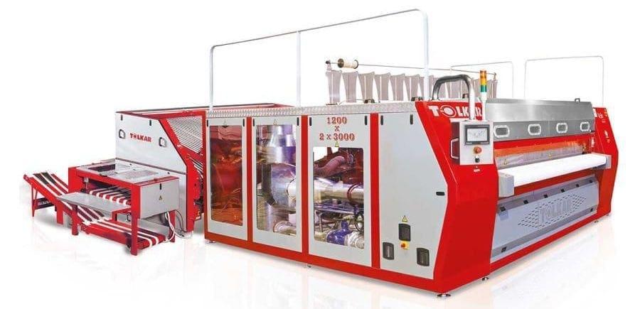 เครื่องรีดผ้าอุตสาหกรรม TOLKAR VELA CHI 212030 แบบกระทะ