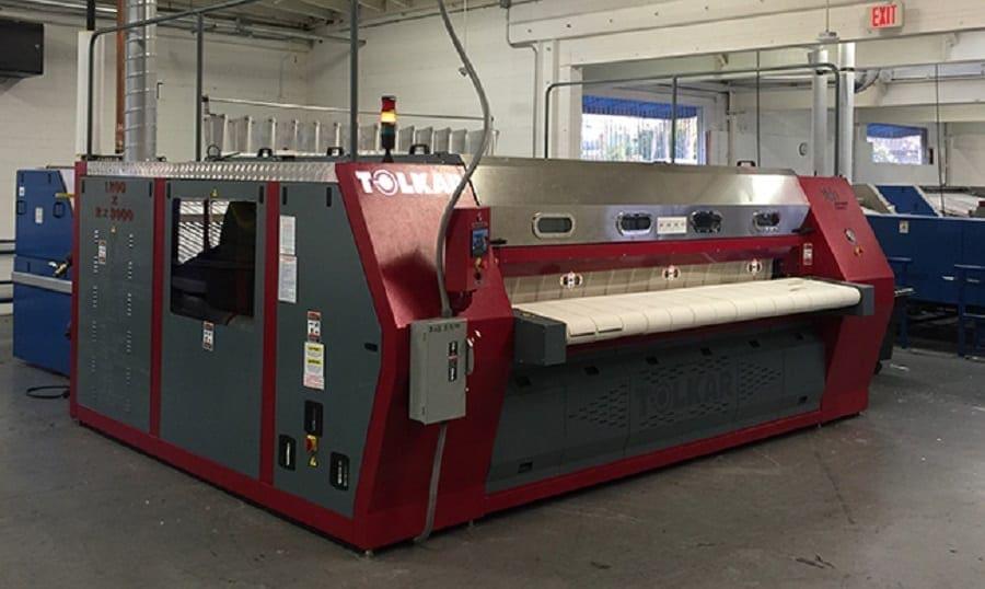 เครื่องรีดผ้าอุตสาหกรรม TOLKAR VELA CHI แบบกระทะ ลูกค้าที่ต่างประเทศ