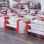 เครื่องรีดผ้าอุตสาหกรรม TOLKAR VELA แบบลูกกลิ้ง โรงงานผลิต
