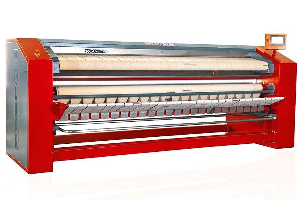 เครื่องรีดผ้าอุตสาหกรรม TOLKAR VELA 750 แบบพับผ้าตามแนวยาว