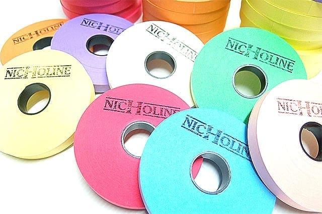 เทปกระดาษสีไฟเบอร์โรล NICHOLINE Fiber Roll สำหรับแยกผ้าซัก - 1