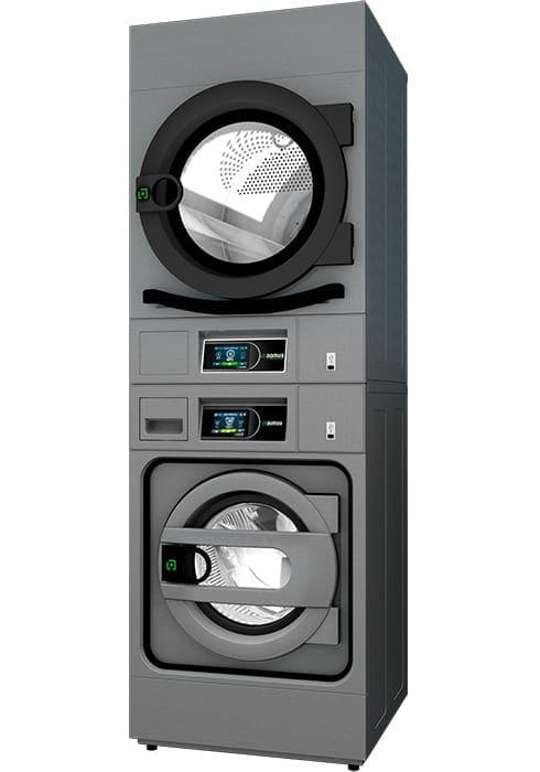 เครื่องซักอบผ้ากึ่งอุตสาหกรรมแบบ 2 ชั้น DOMUS HPW+HPD STACK 490x700