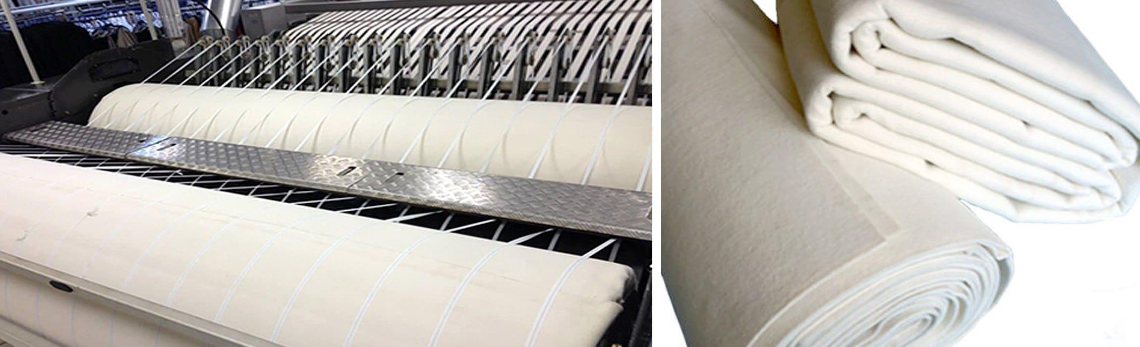 ผ้าสักหลาดเครื่องรีดผ้าอุตสาหกรรม Severnside Fabrics - heading