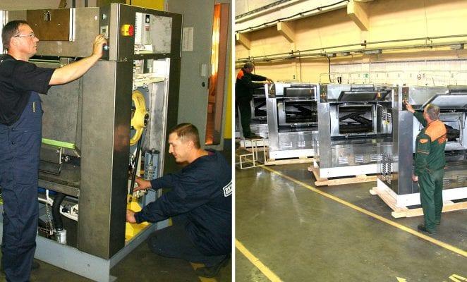 เครื่องซักสลัดผ้าอุตสาหกรรมแบบ 2 ประตู VYAZMA LB - 1