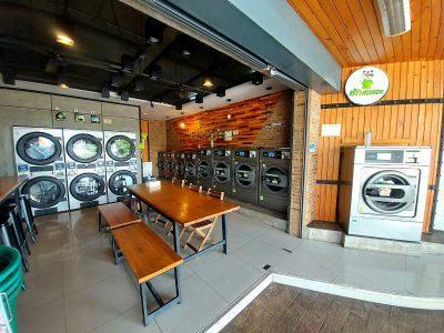 เครื่องซักอบผ้าหยอดเหรียญ DOMUS Clean&Go - ร้าน ซักทีเหอะ - 1