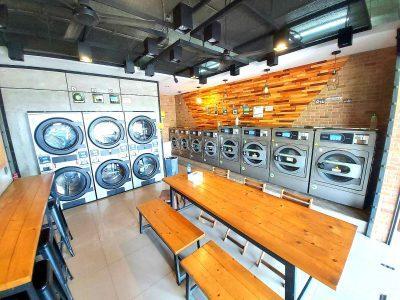 เครื่องซักอบผ้าหยอดเหรียญ DOMUS Clean&Go - ร้าน ซักทีเหอะ - 4