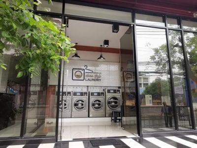 เครื่องซักอบผ้าหยอดเหรียญ DOMUS Clean&Go - ร้าน Clean Style Laundry - 1
