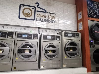 เครื่องซักอบผ้าหยอดเหรียญ DOMUS Clean&Go - ร้าน Clean Style Laundry - 3