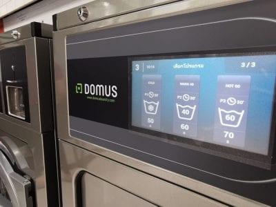 เครื่องซักอบผ้าหยอดเหรียญ DOMUS Clean&Go - ร้าน Clean Style Laundry - 7