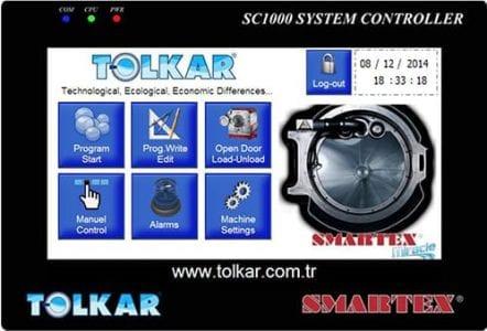 จอคอนโทรลแบบสัมผัสเครื่องซักผ้าอุตสาหกรรม SMARTEX MIRACLE